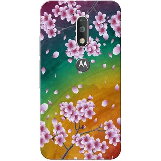 Moto G4 Plus, Flower Rainbow Slim Fit Hard Case Cover/Back Cover for Moto G Plus 4th Gen/Moto G4 Plus