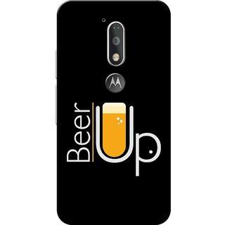 Moto G4 Plus, Beer Up Black Slim Fit Hard Case Cover/Back Cover for Moto G Plus 4th Gen/Moto G4 Plus