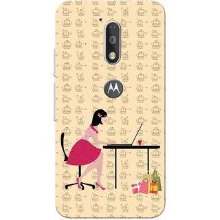 Moto G4 Plus, Digital Shopping Slim Fit Hard Case Cover/Back Cover for Moto G Plus 4th Gen/Moto G4 Plus