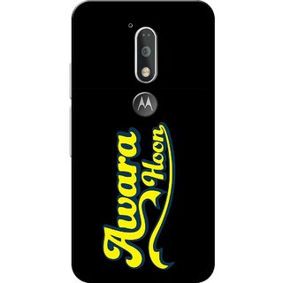 Moto G4 Plus, Awara Hoon Black Slim Fit Hard Case Cover/Back Cover for Moto G Plus 4th Gen/Moto G4 Plus
