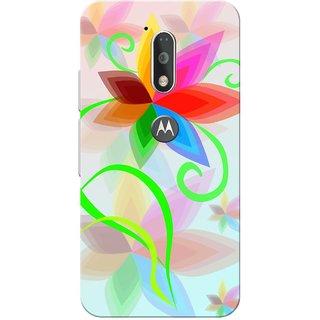 Moto G4 Plus, Dp Flower Slim Fit Hard Case Cover/Back Cover for Moto G Plus 4th Gen/Moto G4 Plus