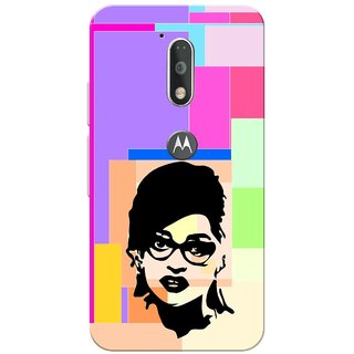Moto G4 Plus, Deepika.P Face Slim Fit Hard Case Cover/Back Cover for Moto G Plus 4th Gen/Moto G4 Plus