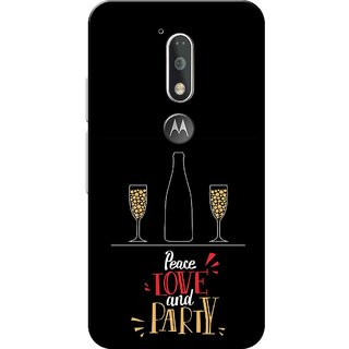 Moto G4 Plus, Love and Party Black Slim Fit Hard Case Cover/Back Cover for Moto G Plus 4th Gen/Moto G4 Plus