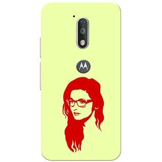 Moto G4 Plus, Red Alia Bhatt Slim Fit Hard Case Cover/Back Cover for Moto G Plus 4th Gen/Moto G4 Plus