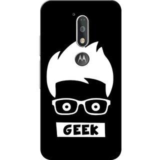 Moto G4 Plus, Geek Black Slim Fit Hard Case Cover/Back Cover for Moto G Plus 4th Gen/Moto G4 Plus