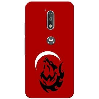 Moto G4 Plus, Red Night Fox Slim Fit Hard Case Cover/Back Cover for Moto G Plus 4th Gen/Moto G4 Plus