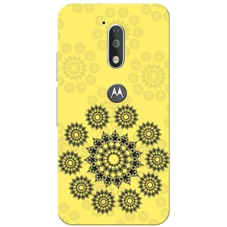Moto G4 Plus, Indian Circle Pattern Slim Fit Hard Case Cover/Back Cover for Moto G Plus 4th Gen/Moto G4 Plus