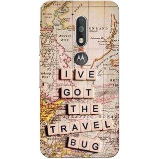 Moto G4 Plus, Travel Bug Slim Fit Hard Case Cover/Back Cover for Moto G Plus 4th Gen/Moto G4 Plus