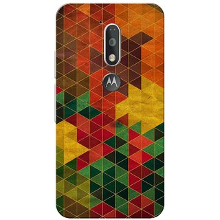 Small Multi Triangles Slim Fit Hard Case Cover/Back Cover for Moto G4 Plus/Motorola Moto G4/Moto G Plus 4th Gen/Moto G 4th Gen