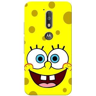 Moto G4 Plus, Spongy Yellow Slim Fit Hard Case Cover/Back Cover for Moto G Plus 4th Gen/Moto G4 Plus