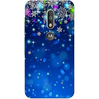 Moto G4 Plus, Blue Stars Slim Fit Hard Case Cover/Back Cover for Moto G Plus 4th Gen/Moto G4 Plus