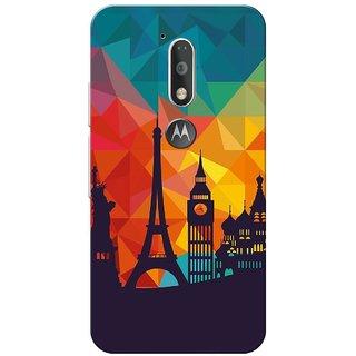 Moto G4 Plus, City Shadow Slim Fit Hard Case Cover/Back Cover for Moto G Plus 4th Gen/Moto G4 Plus
