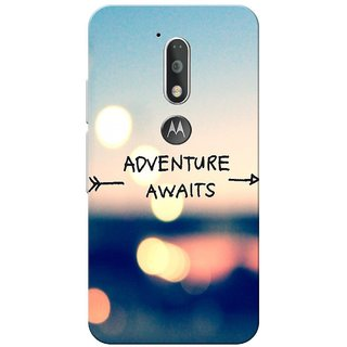 Moto G4 Plus, Adventure Awaits Slim Fit Hard Case Cover/Back Cover for Moto G Plus 4th Gen/Moto G4 Plus