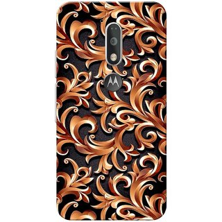Moto G4 Plus, Abstract Golden Black Slim Fit Hard Case Cover/Back Cover for Moto G Plus 4th Gen/Moto G4 Plus
