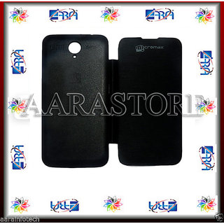Aara Flip Covers For Micromax Canvas Power A96 - Black