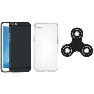 Oppo A37 Premium Back Cover with Spinner, Silicon Back Cover, Free Silicon Back Cover
