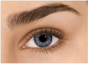 Diamond Eye Colour Contact Lens With Power(Grey, 0.75 Power)
