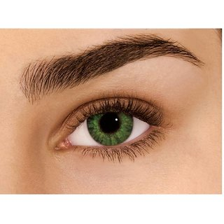 i-look Green Colour Monthly(Zero Power) Contact Lens