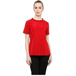 faf8be7566a21e Buy Liqvid Online Fashion Wine Red Colored Top Online - Get 59% Off