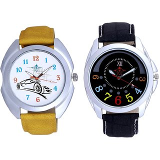 Half Round Colour Digits With Tarzan The Wonder Car SCK Combo Gallery Wrist Watch