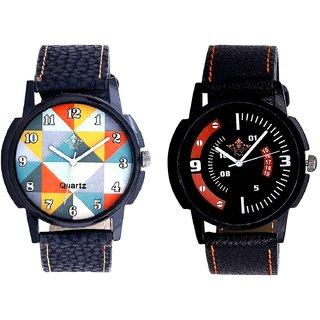 Hexa Orange Colour With Orange Smarty Sporty SCK Combo Gallery Wrist Watch