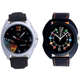 Ether Chain Digits With Goal Achived Motivated SCK Combo Gallery Wrist Watch