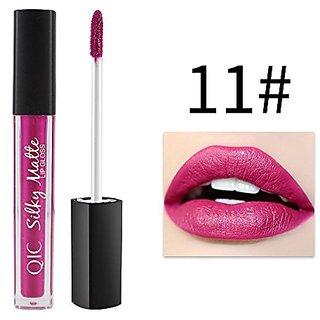 DALUCI Silky Matte Lip Gloss Waterproof Velvet Liquid Lipstick (Pink (11))