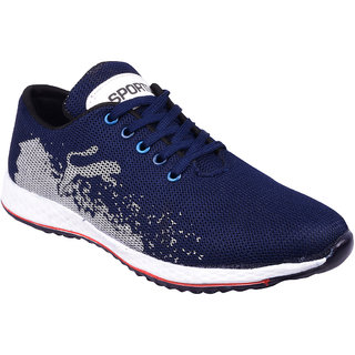 BB LAA Blue Mesh EVA Running Sports Shoes For Men