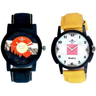 Parikar Hexa Square Design With Mount Themes SCK Combo Gallery Wrist Watch