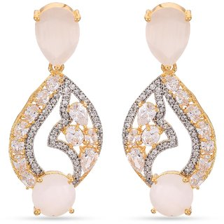 Tistabene Contemporary Designer Colored Stone Latest Trendy Dangler Earring For WomenGirls (ER-3373)