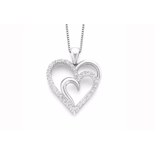 LIMITED TIME SPECIAL, WHILE SUPPLIES LAST Sterling Silver Heart Pendant Necklace