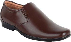 Ryko Mens Brown Formal Slip-on Shoes