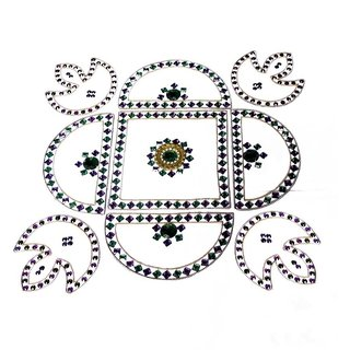 Home Decor Blossoming Floral Rang Rangoli -29