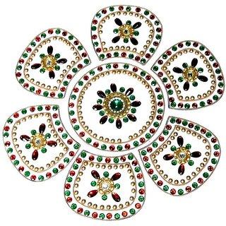 Home Decor Blossoming Floral Rang Rangoli -34