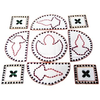 Home Decor Blossoming Floral Rang Rangoli -35