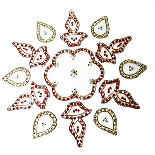 Home Decor Blossoming Floral Rang Rangoli -36