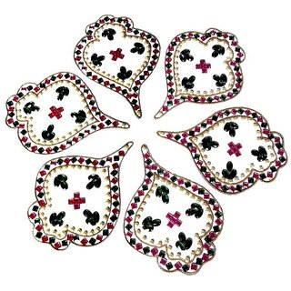 Home Decor Blossoming Floral Rang Rangoli -38