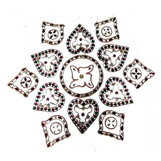 Home Decor Blossoming Floral Rang Rangoli -41