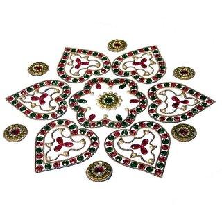 Home Decor Blossoming Floral Rang Rangoli -43