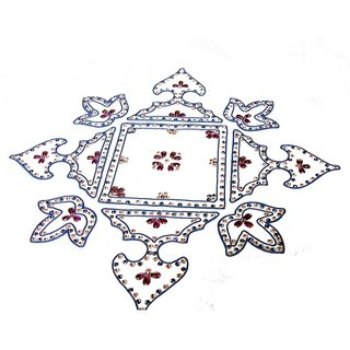 Home Decor Blossoming Floral Rang Rangoli -50