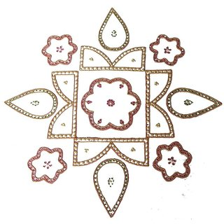 Home Decor Blossoming Floral Rang Rangoli -57