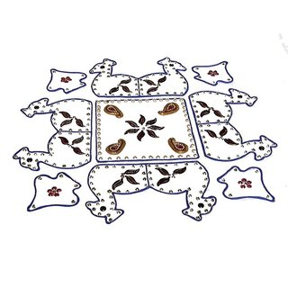 Home Decor Blossoming Floral Rang Rangoli -62