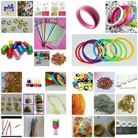 76 items Silk thread jewellery making kit with instruction book