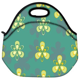 Pattern Design In Green Travel Outdoor Tote Lunch Bag
