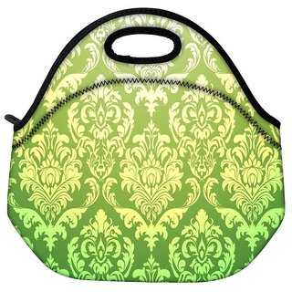 Green Pattern Travel Outdoor CTote Lunch Bag