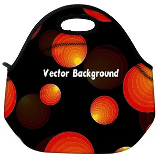 Vector Background Travel Outdoor CTote Lunch Bag