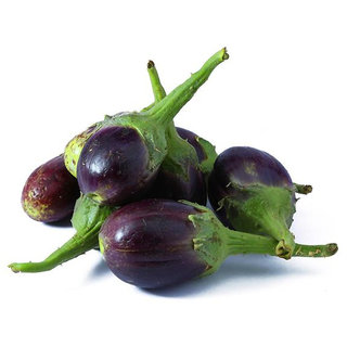 Brinjal Seeds, Brinjal Cluster Small Eggplant Vegetable Seeds Pack of 100 Seeds by AllThatGrows