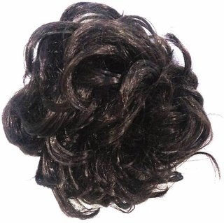 Women curly Hair Bride Bun juda rubber free size Natural hair extensions