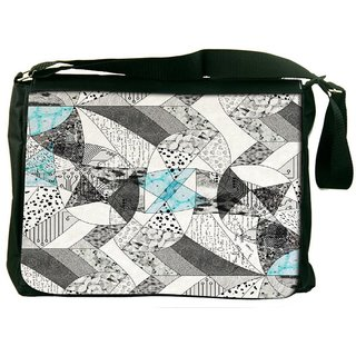 Abstract Math Designer Laptop Messenger Bag