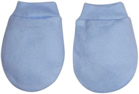 Tumble Plain Baby Mitten -Blue